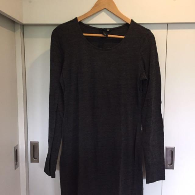 H&M Gray Long Sleeves Dress