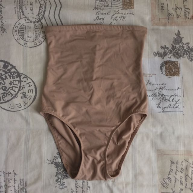 Hold Me Right Branded Nude Cream Beige High Waisted Briefs Control Underwear Size 12