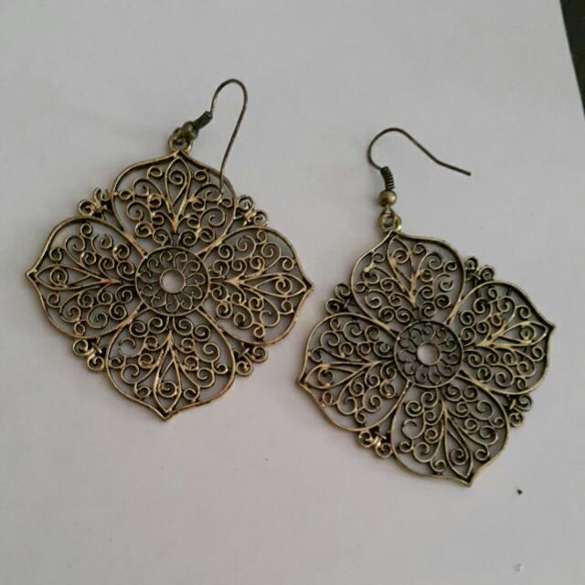 Indian Golden Floral Earrings