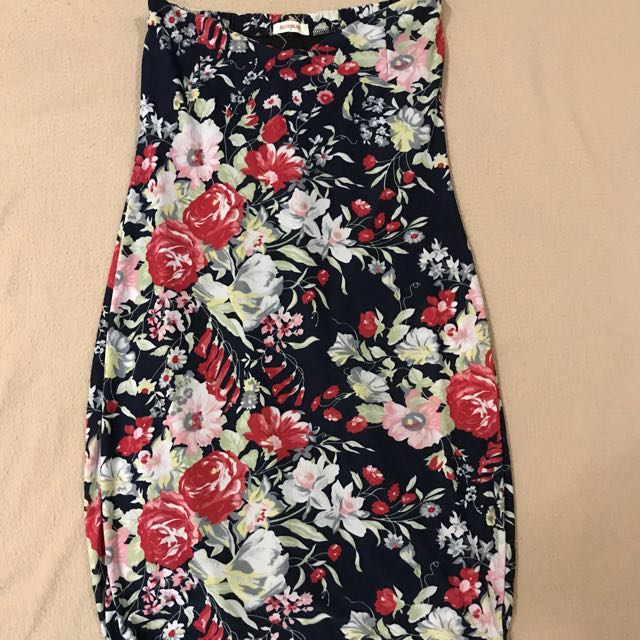 Jelly Bean Tube Floral Dress