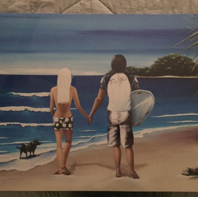 Kelly lane Canvas Painting - The Cove Couple