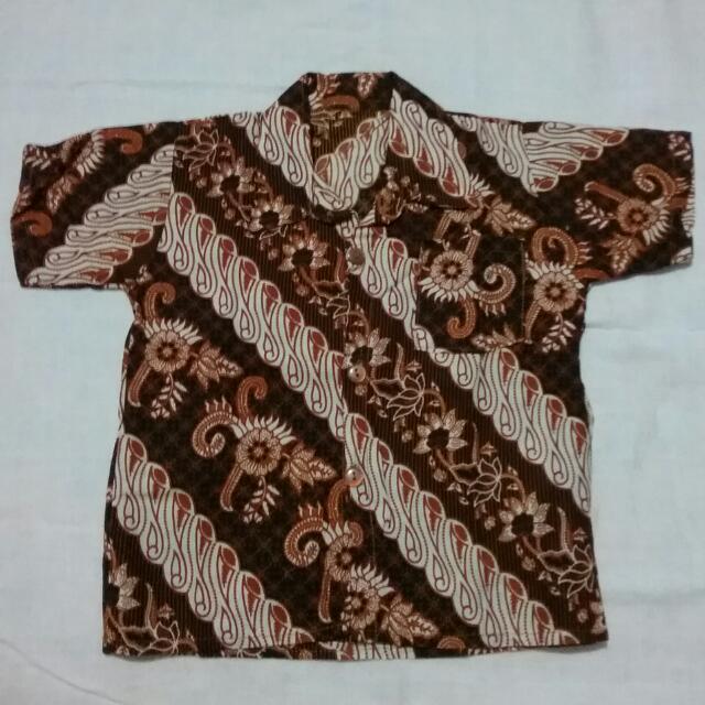 Kemeja Batik Coklat (Usia 1 Tahun)