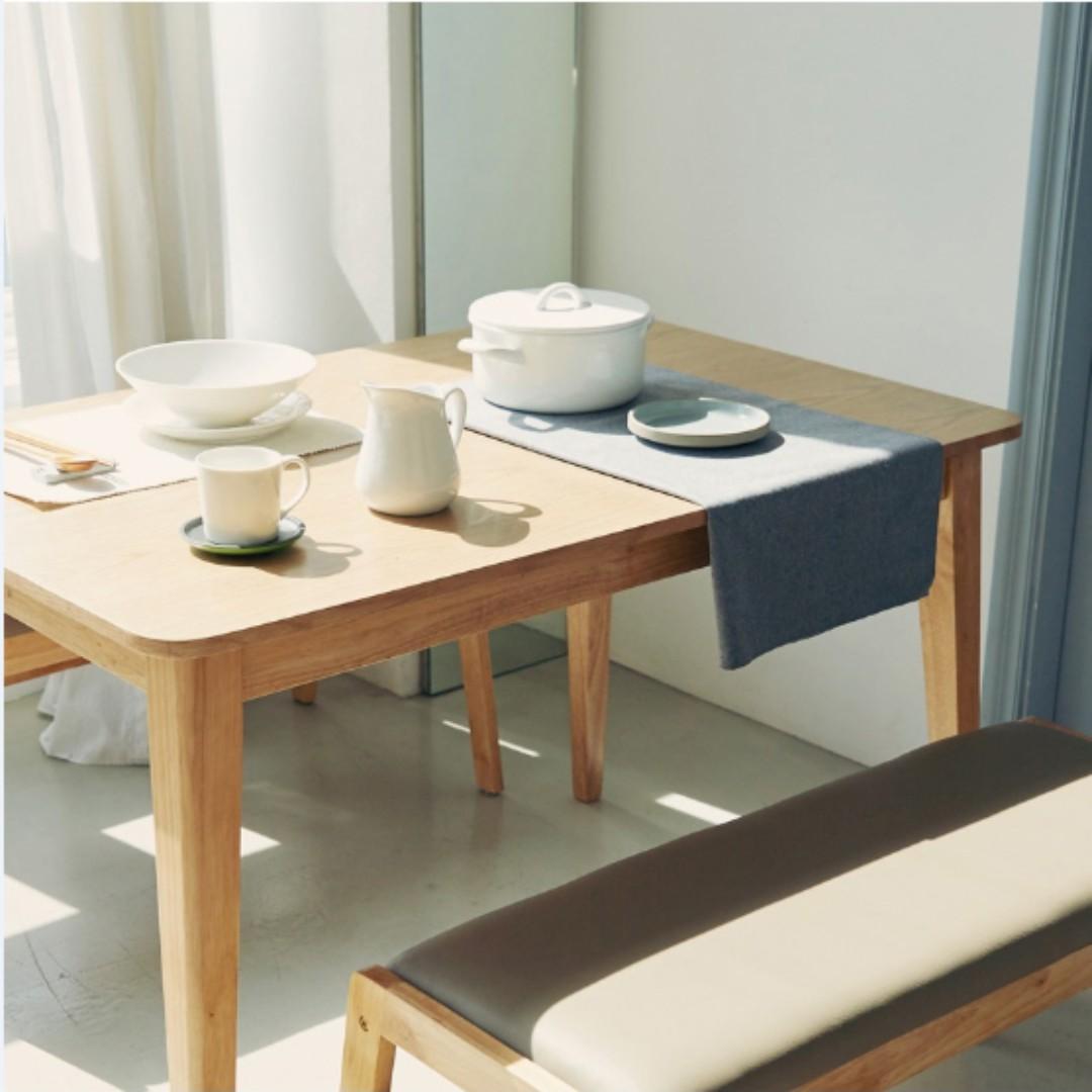 ... Kokoro Scandinavian Compact 4 Seater Dining Set C ...