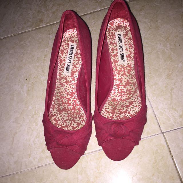 Maroon Heels by Payless