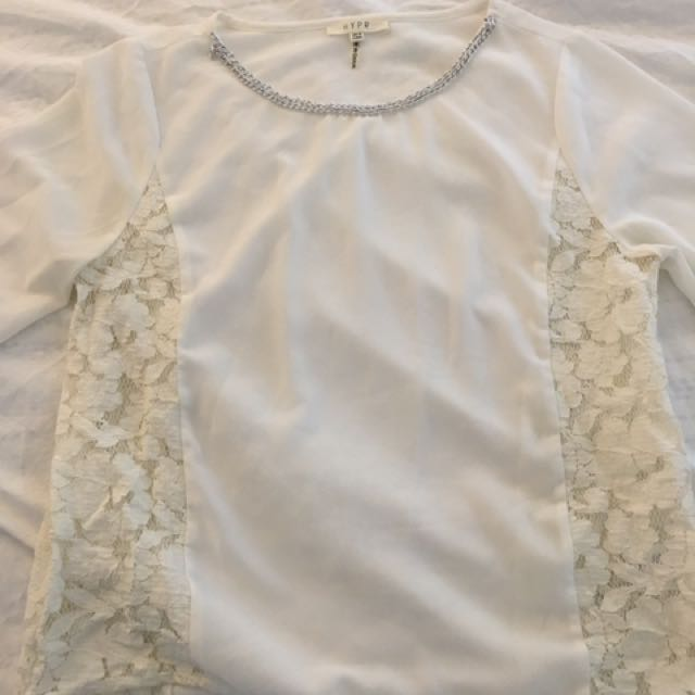 Mendocino Chiffon Top With Lace On The Sides