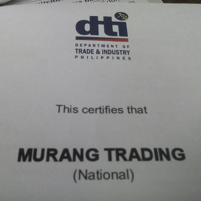 MURANG TRADING LEGALITIES
