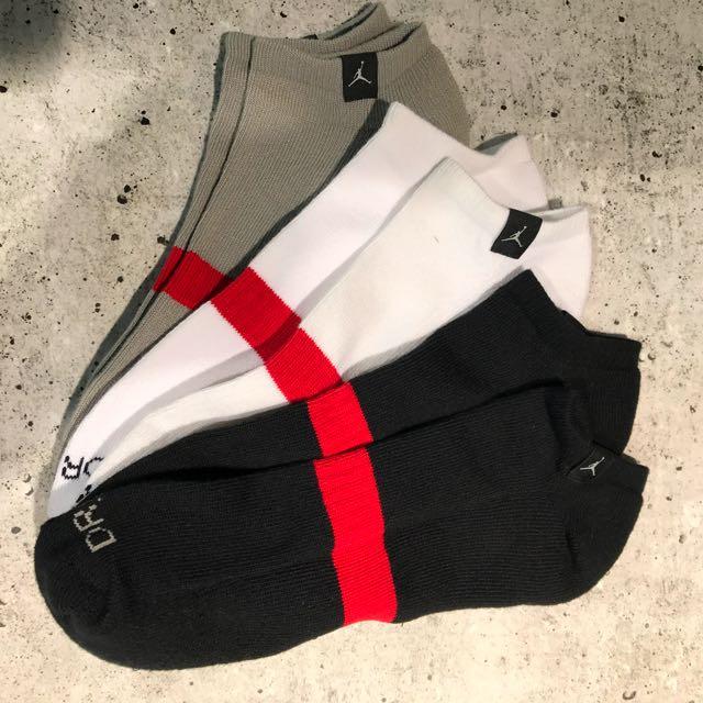 Nike Jordan Dri-FIT 運動襪 踝襪 毛巾底 大尺碼 厚底船型襪 Socks 三入 三雙一組 546479-901