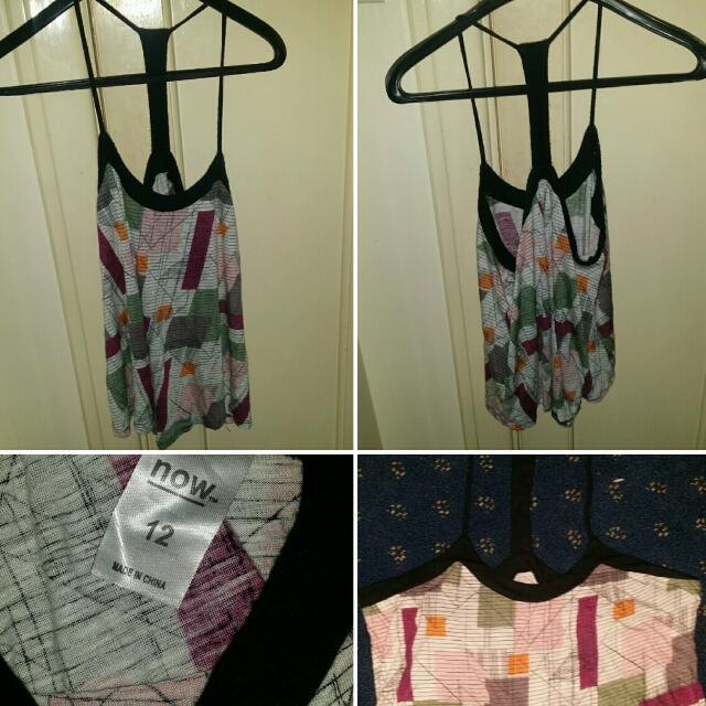 Now Singlet Shirt Size 12