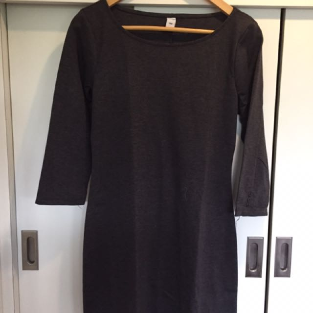 Old Navy Mid Sleeves Gray Dress