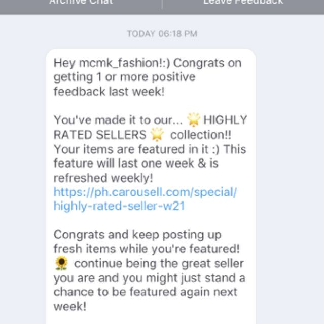 One Of The Highly Rated Sellers THANK YOU CAROUSEll