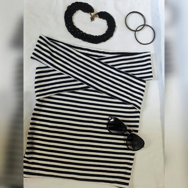 Overlapped Stripes Top
