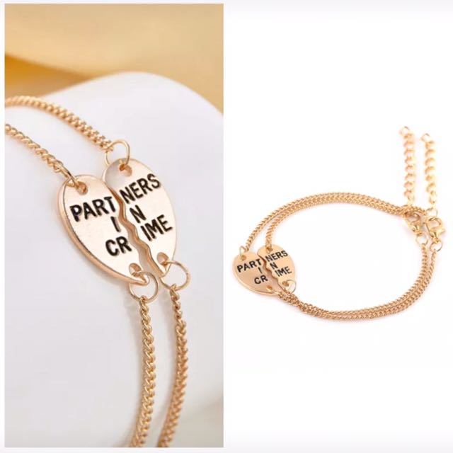 Partners in Crime Fashion Best Friend Bracelet