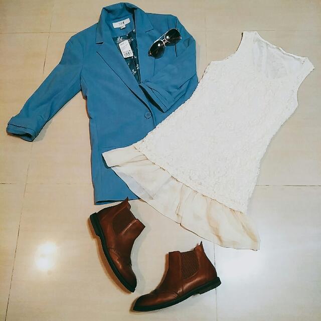 Pazzo 白蕾絲小洋裝