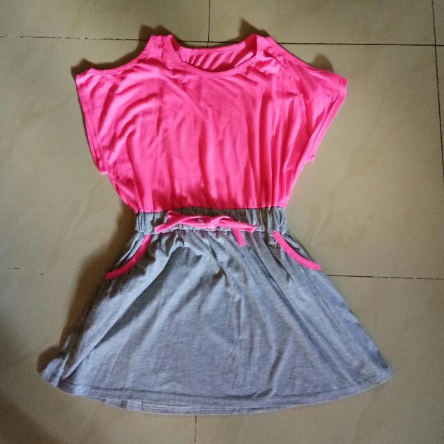 Pink Off-shoulder Dress