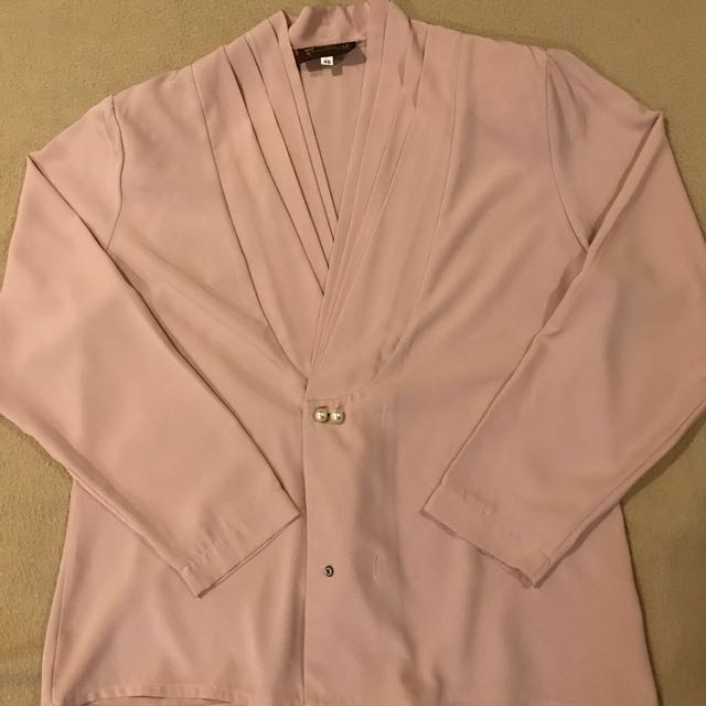 Pink Oversized Blouse