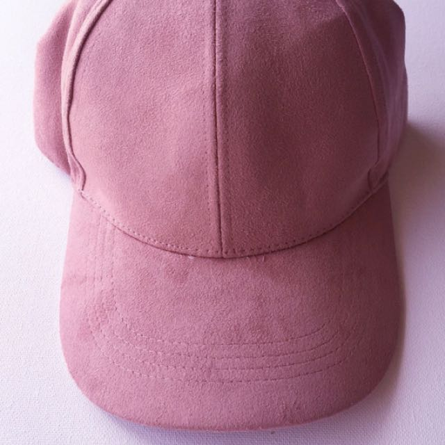 Pink Suede Look Baseball Cap - Never Worn!!