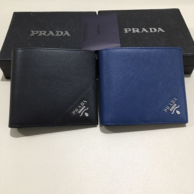 64b8617a3aec1f Prada saffiano leather men's wallet, Luxury, Bags & Wallets on Carousell
