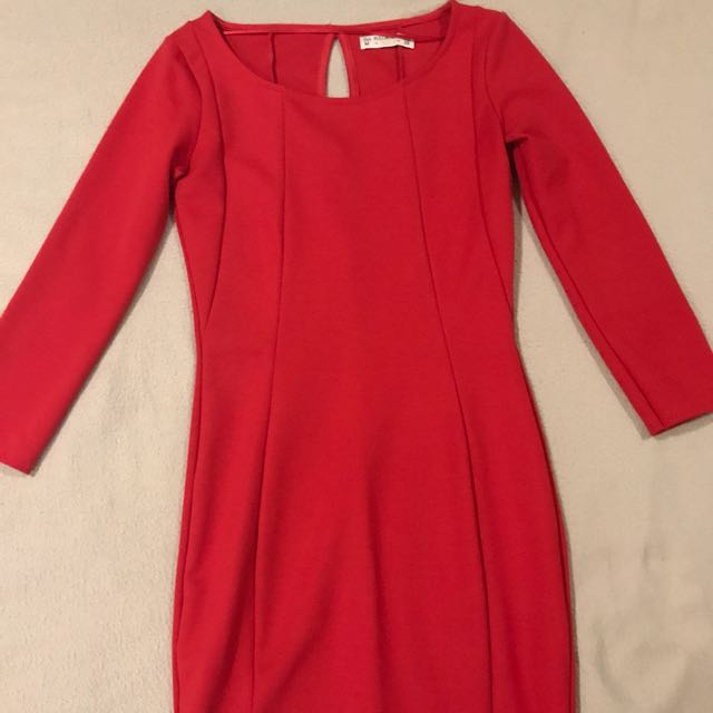 Pull & Bear Long Sleeve Dress