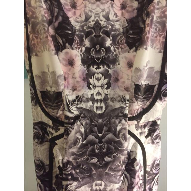 Purple Print Dress BNWT