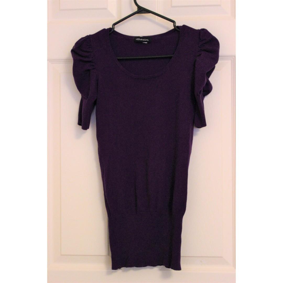 Purple shirt w/ butterfly sleeves