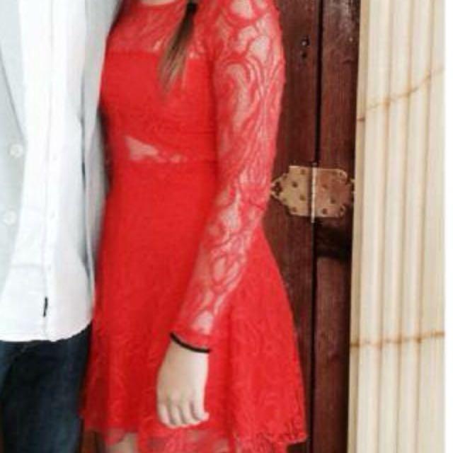 Red Dress Bardot