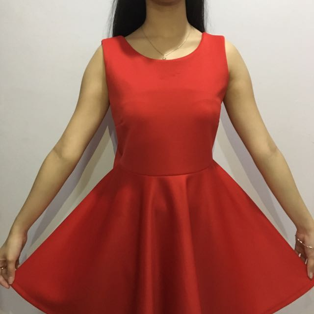 Red Ribbon Dress