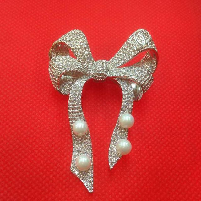 Ribbon swarovski Brooch