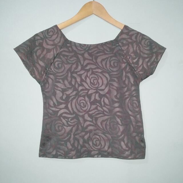 Roses Fitted Top