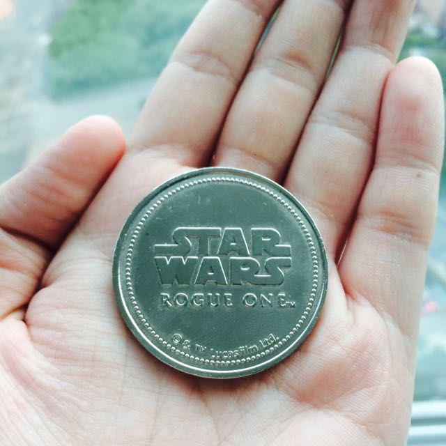 Silver Coin Star Wars Rogue One