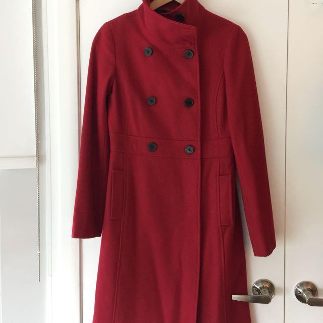 Size Medium Red Peacoat