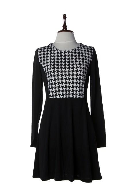 Skater Plaid Dress