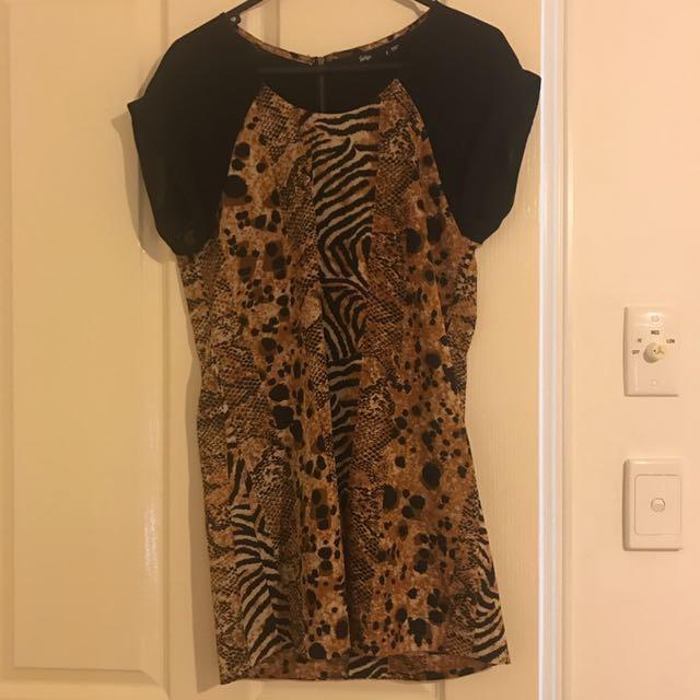 Sportsgirl Leopard Dress New
