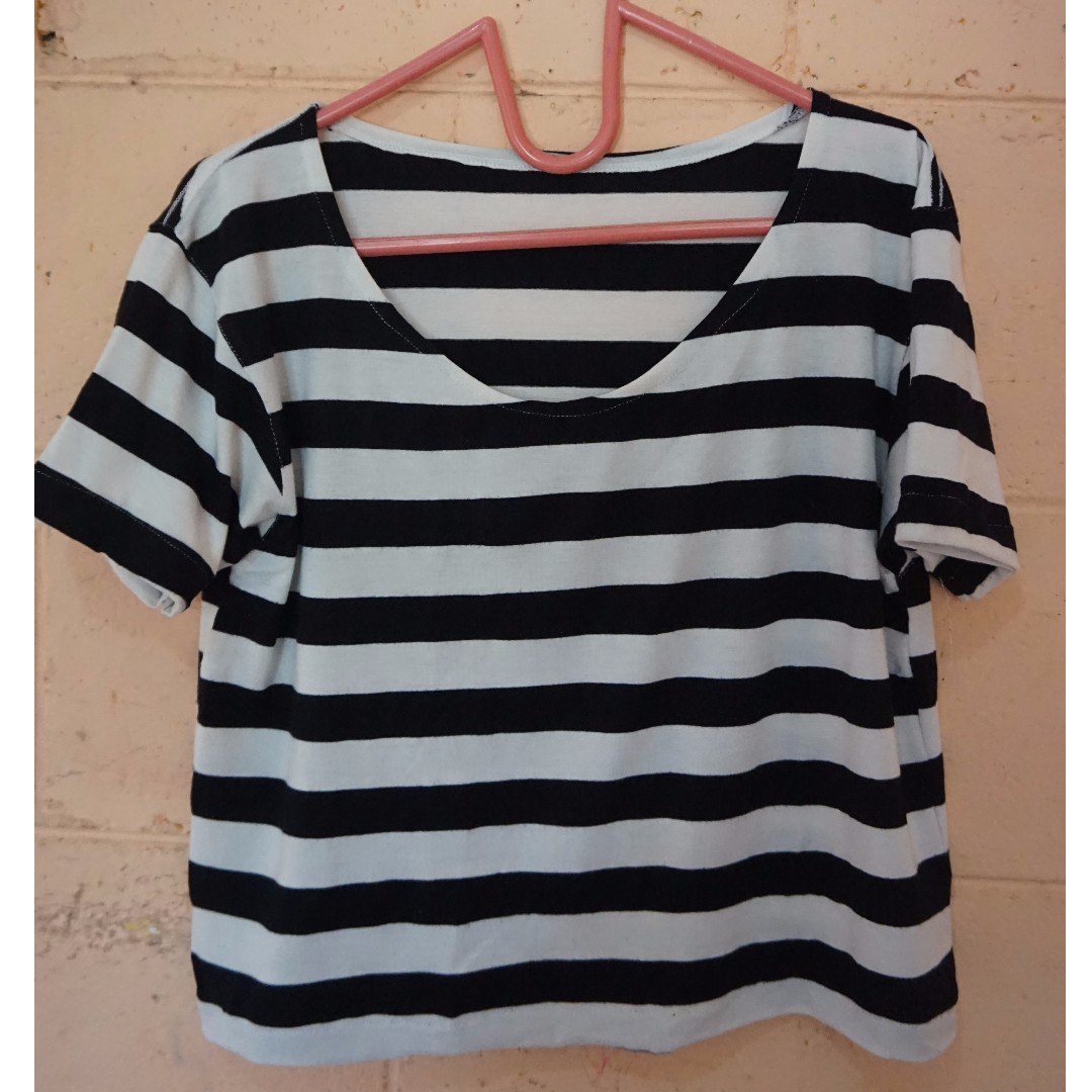 Stripey Crop Tee