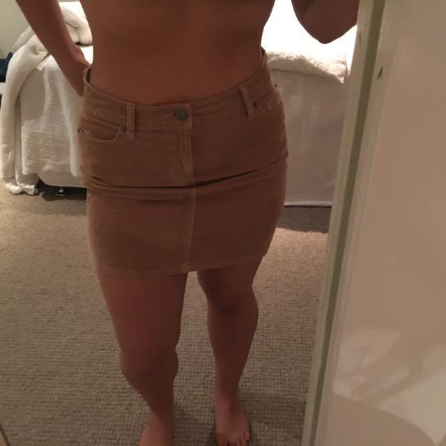 Tan Bardot Skirt