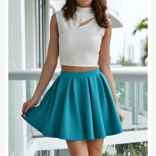 Teal Colored skirt