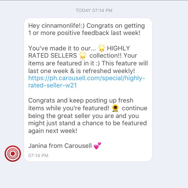 Thank you Carousell 😉💋