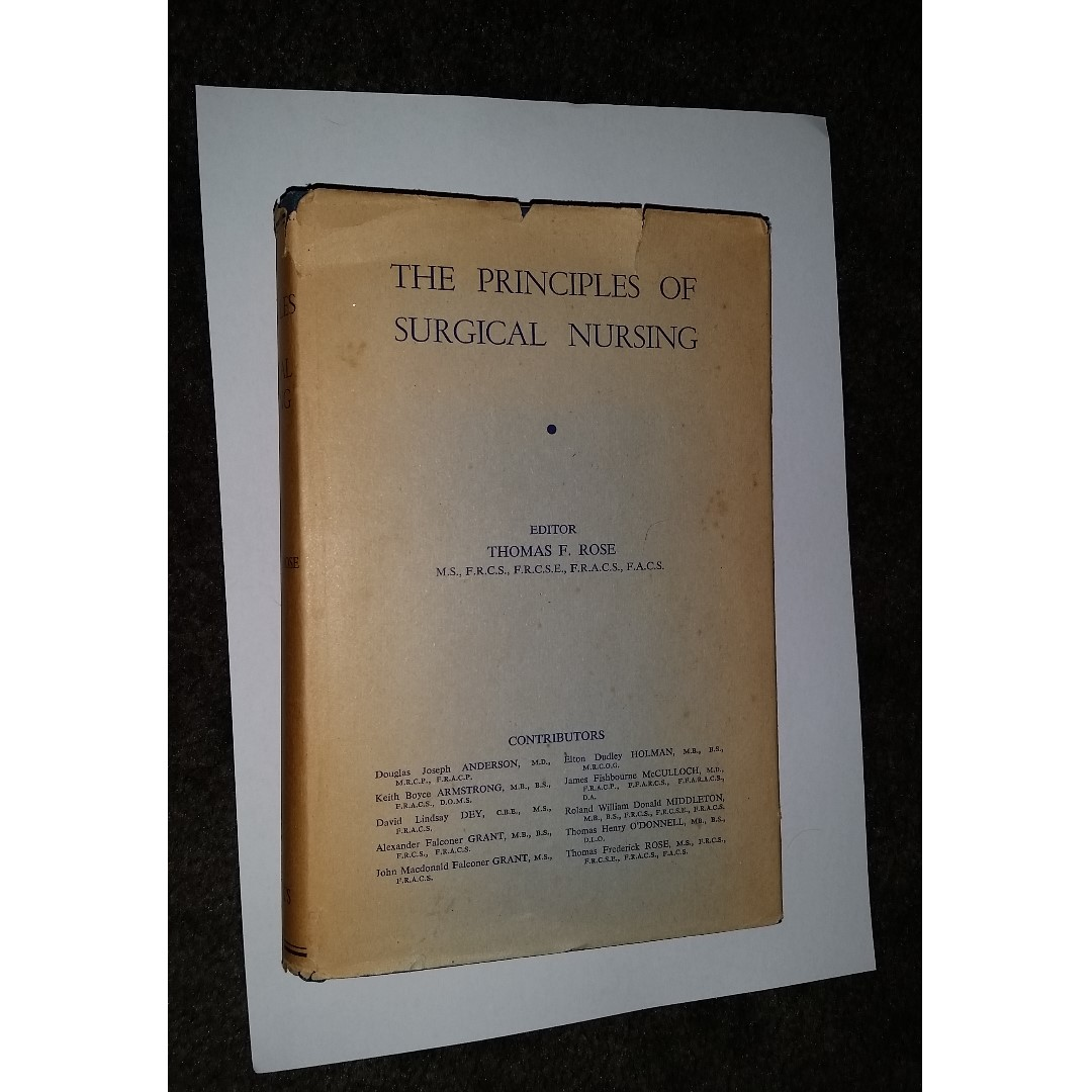 The principles of surgical nursing