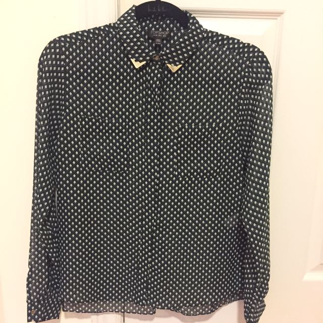 Topshop Blouse With Gold Details