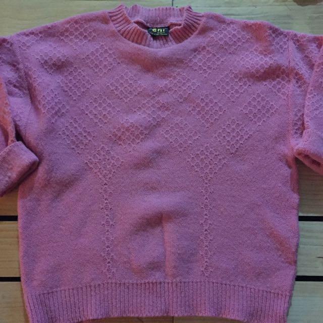 Vintage Pink Woollen Jumper