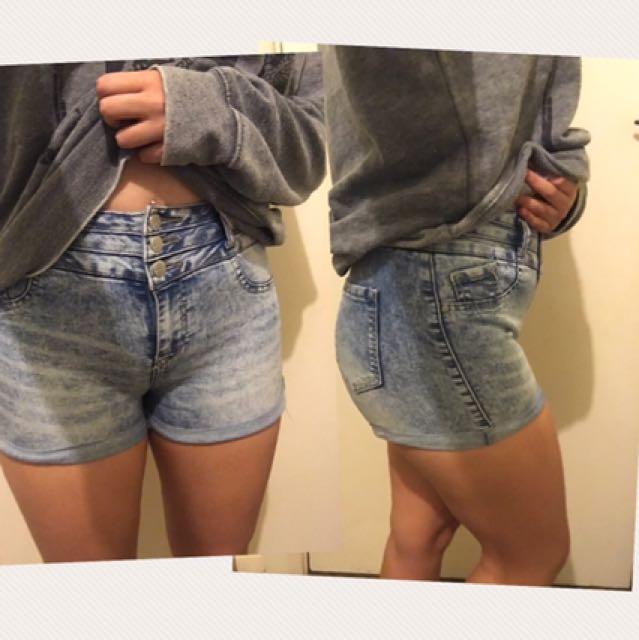 Women's High Waisted Denim Shorts