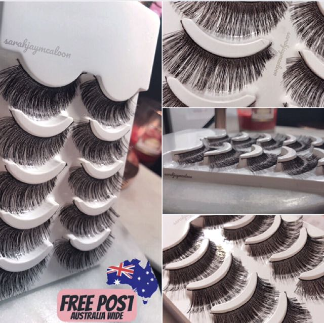 X5 Pairs False / Fake Eyelashes - Long, Soft, Dramatic + Wispy *FREE POSTAGE*