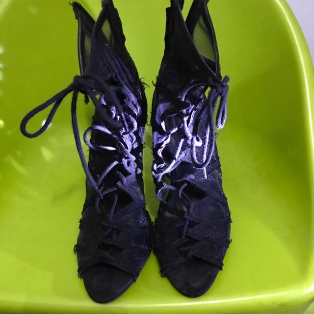 ZARA 網眼紗高跟鞋