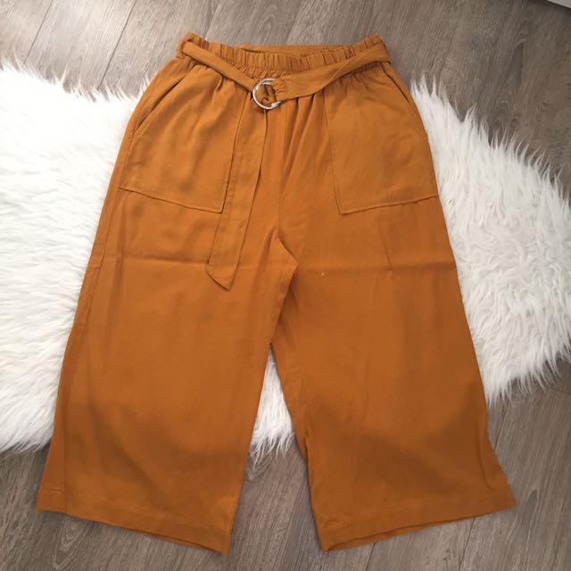 Zara Burnt Orange Culottes