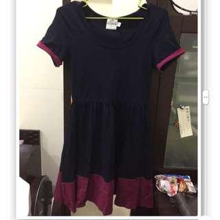 ASOS Petite 深藍x桃紫 洋裝