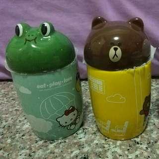 7-11 Line Friends And Sanrio Ceramic Mug Moon $10 (Sold) Leonard X 2  @ $10 Each Brown $25 (Sold)