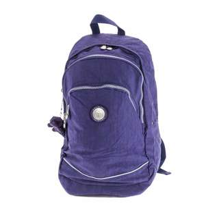 Auth. CAVALIER Large Nylon Backpack- VIOLET