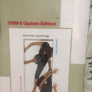 Abnormal Psychology Dsm5