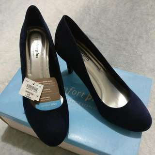 Navy Suede Pumps by Payless