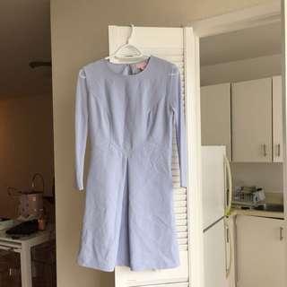 Ted Baker Mesh Sleeve Dress