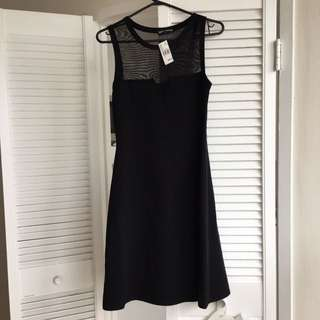 Cocktail Dress With Mesh Detail Size Small